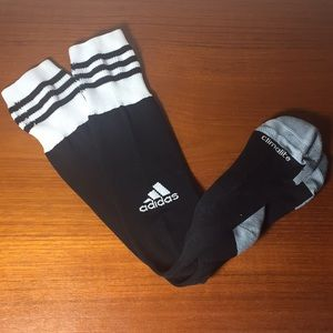 Adidas Soccer Socks Black white Medium